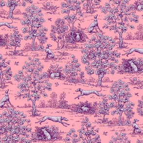 Pink and Purple Greyhound Toile ©2011 by Jane Walker