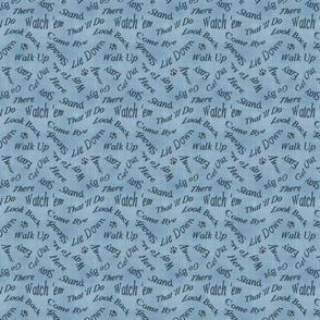 Herds the word - blue linen