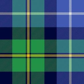 """MacNeil tartan, 8"""" blue and green"""