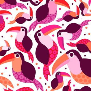 Girls brazil tucan pura vida costa rica toucan illustration bird tropical summer kids pattern