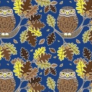 Owl and Oak dark blue