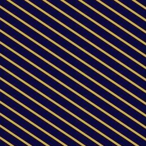Navy and Gold Diagonal Stripes