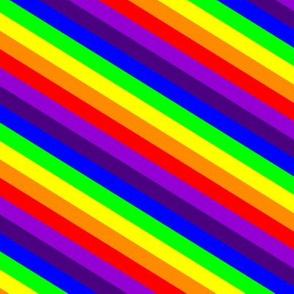 Rainbow Diagonal Stripes One Yard Design