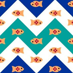 04599316 : happy fish zigzag