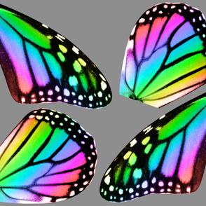 Oversized Rainbow Monarch Butterfly Wings