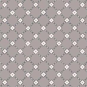 Stitched sequin lattice
