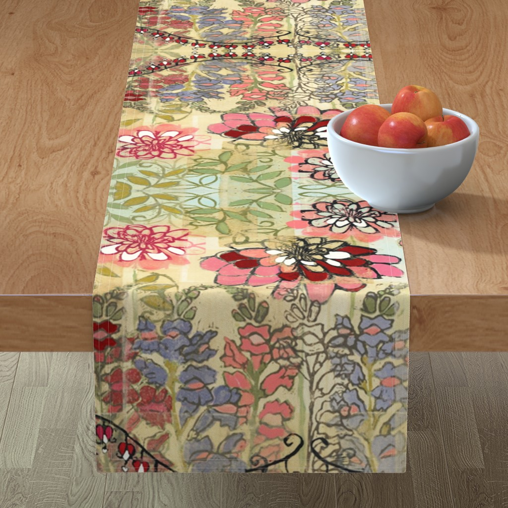 Minorca Table Runner featuring Nonna's Garden by maria_pezzano