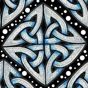 Blue on black knots