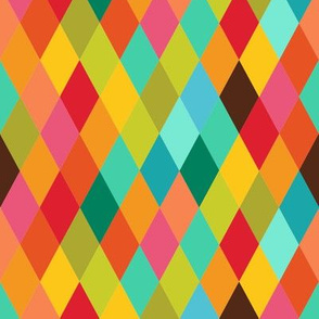Retro Candy Harlequin Pattern