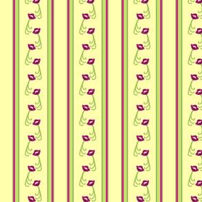 Danita's Elegant Flowers And Stripes