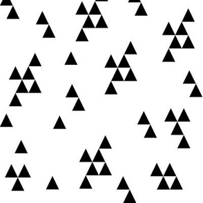 triangle fabric  // simple black and white minimal minimalist black and white kids nursery scandi