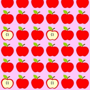 Red Apples Everywhere Pink