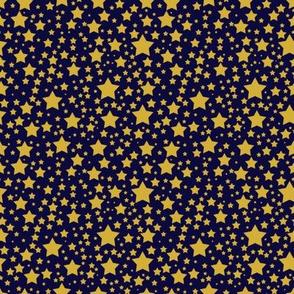 Larger Gold Stars on Navy