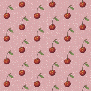 Rose Cherry with Polkas