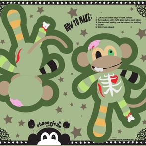 Zombie Monkey Cut & Sew Pillow Doll (YD)