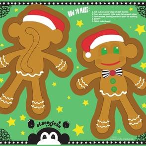 Gingerbread Monkey Cut & Sew Pillow Doll (YD)