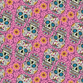 Sugar Skull Day Of The Dead Pink