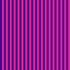 Stripes - Vertical - 0.5 inch (1.27cm) - Purple (#4D008A) & Pink (#DD2695)