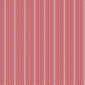 Protea Herringbone Carmine