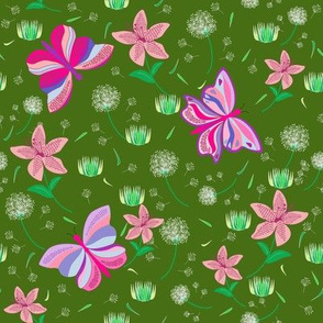 A Garden With Butterflies