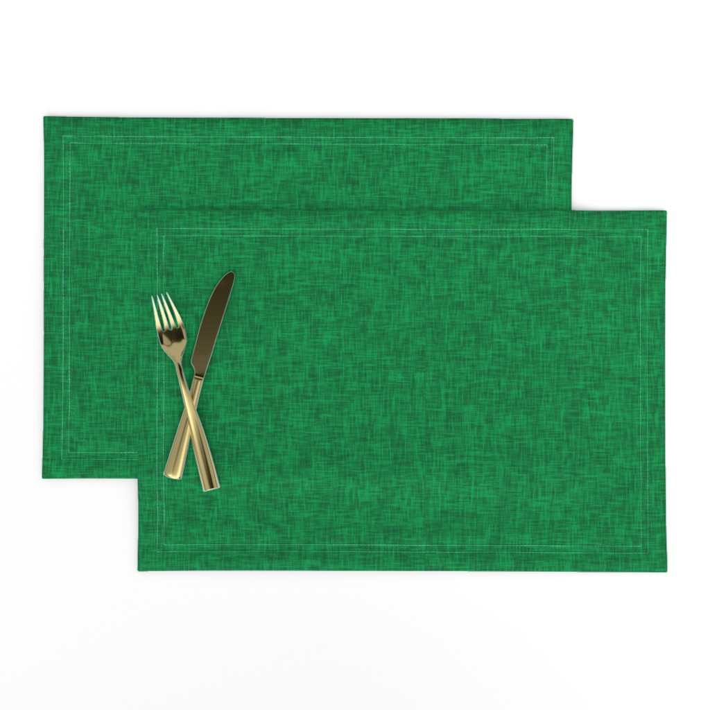 Lamona Cloth Placemats featuring Kelly Green - linen look by Andrea Lauren  by andrea_lauren