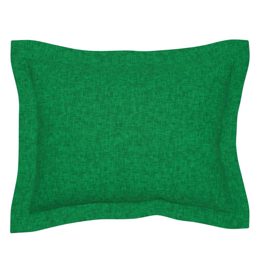 Sebright Pillow Sham featuring Kelly Green - linen look by Andrea Lauren  by andrea_lauren