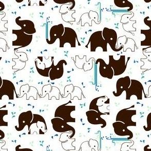 ABC Baby Coordinate - Elephant Splash, white
