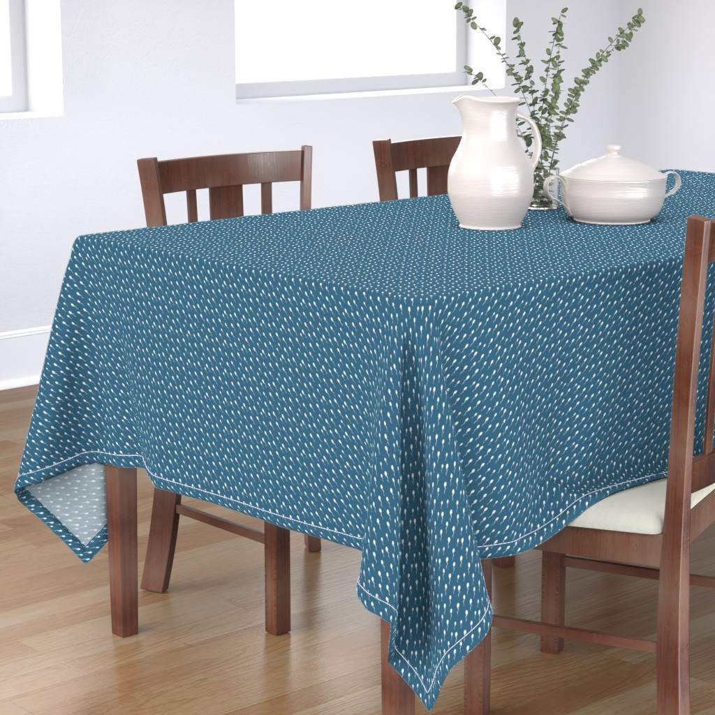 Bantam Rectangular Tablecloth featuring Swimming Sperm in Blue by joanandrose