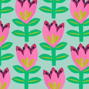 Tulipa - Mint - Large scale