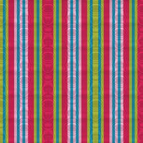 Royal Stripe ~ Moire ~ Courtesan, Usurper, Lulu and Caledonian Blue