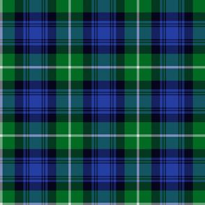 "Lamont tartan - 6"" green and blue"
