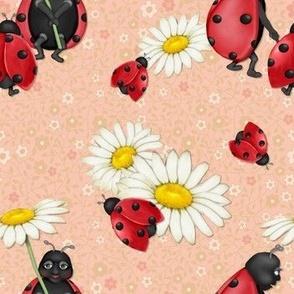 Ladybug  Family Stroll - Peach