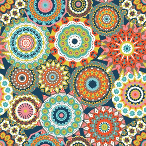 Millefiori Mandalas_Retro colorway