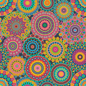 Millefiori Mandala_Eden Colorway