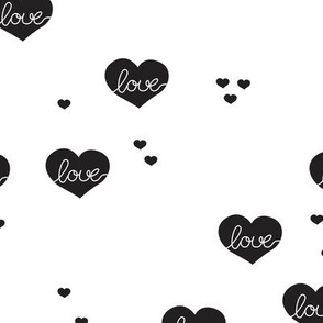 Sweet love scandinavian hearts cool pastel blue valentine and wedding theme black and white - Little Smilemakers Studio