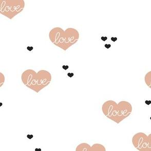 Sweet love scandinavian hearts cool pastel blue valentine and wedding theme beige