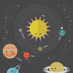Solar System Quilt Panel - 2 yards