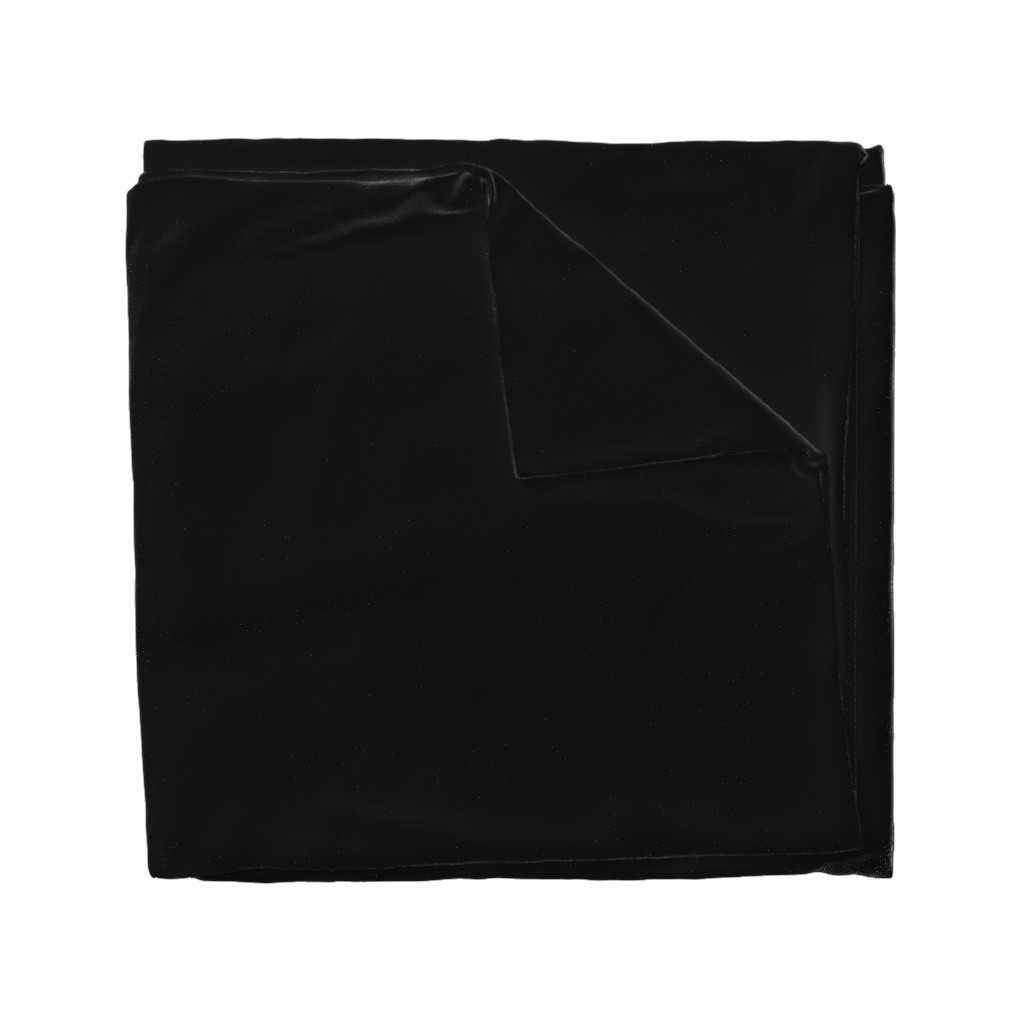 Wyandotte Duvet Cover featuring Solid Black by lyddiedoodles