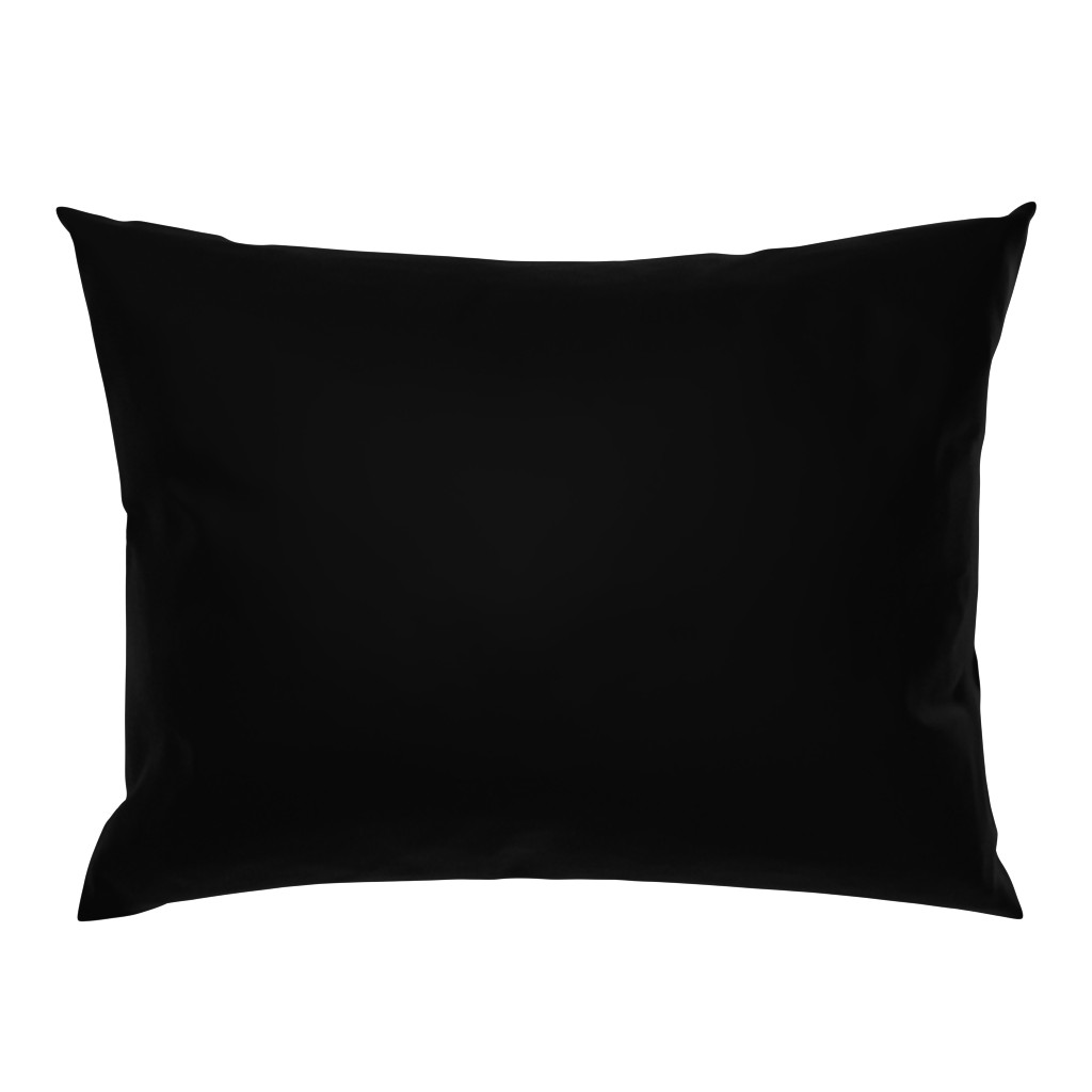 Campine Pillow Sham featuring Solid Black by lyddiedoodles