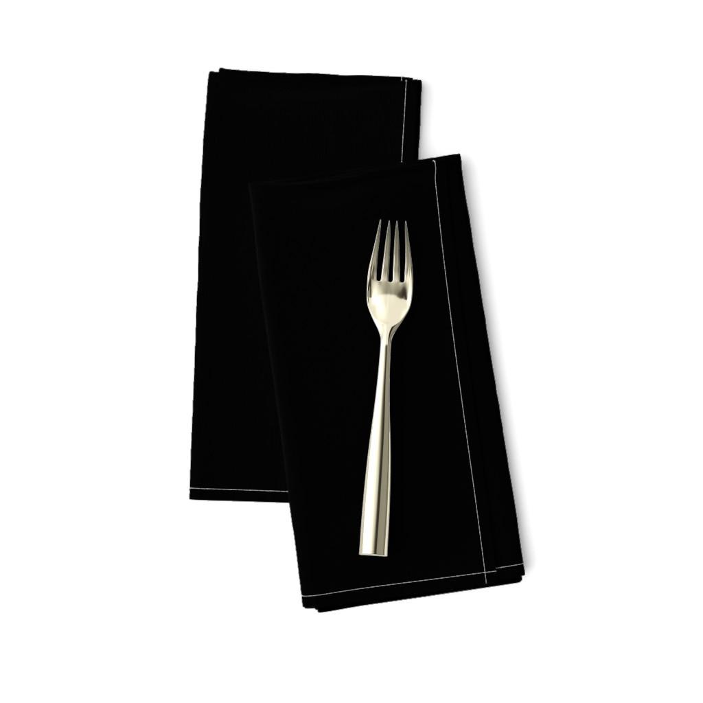 Amarela Dinner Napkins featuring Solid Black by lyddie_doodles