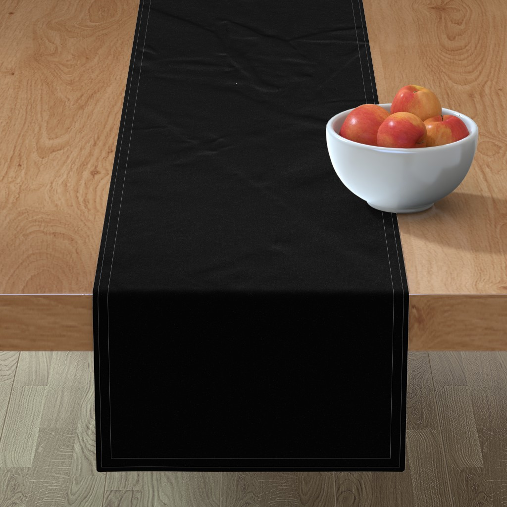 Minorca Table Runner featuring Solid Black by lyddiedoodles