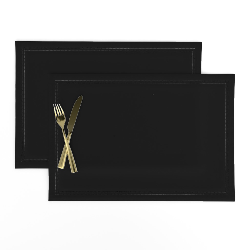 Lamona Cloth Placemats featuring Solid Black by lyddiedoodles