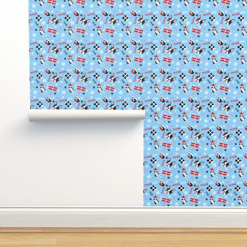 Wallpaper Boston Terrier Christmas