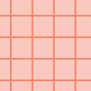 Pink and Coral Grid/Tile
