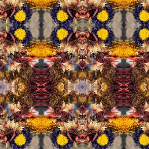 Red Flower Kaleidoscope Photo