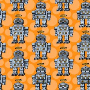 Blue orange robots