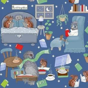 Owl Blocks Quilt Fabric