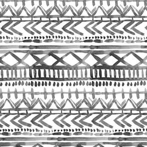 mono tribal watercolor