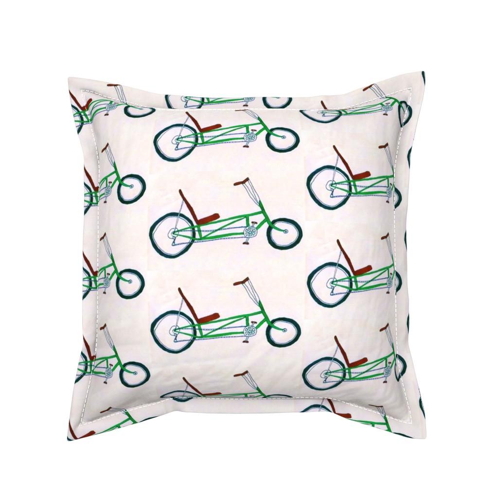 Serama Throw Pillow featuring Velveteen Bike by gart
