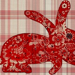 rabbit / plaid